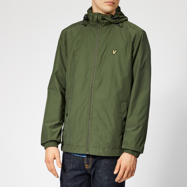 Lyle   Scott Men s Zip Through Hooded Jacket - Woodland Green  Image 1 6db242670