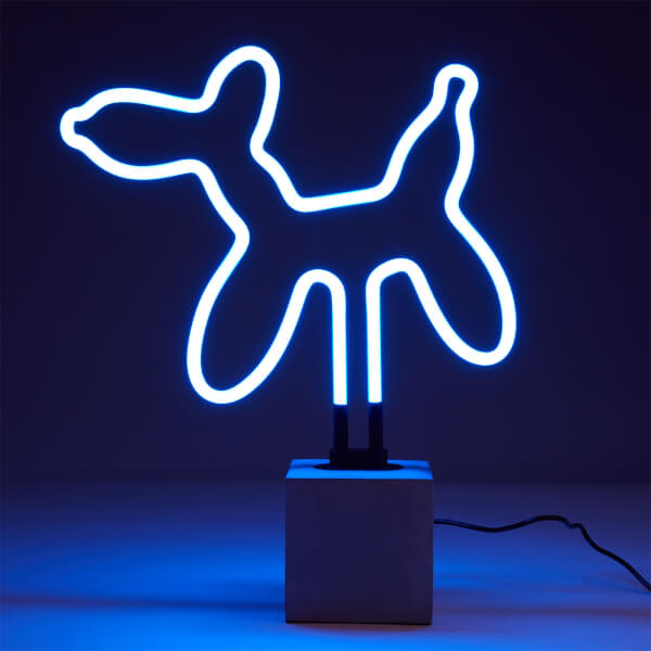 Exclusive Balloon Dog Neon Light   Concrete Base by Iwoot