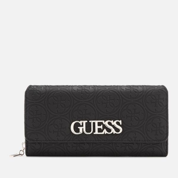7edc06e4ed Guess Women s Heritage Pop Large Clutch Bag - Black  Image 1