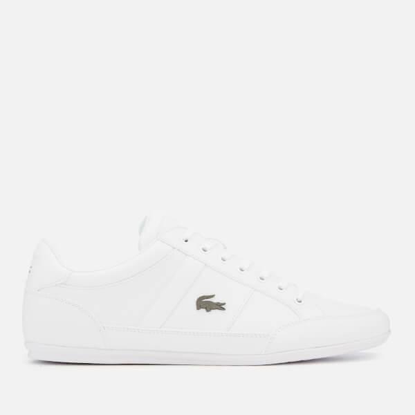 Lacoste Men's Chaymon Bl 1 Leather Low Profile Trainers - White/White