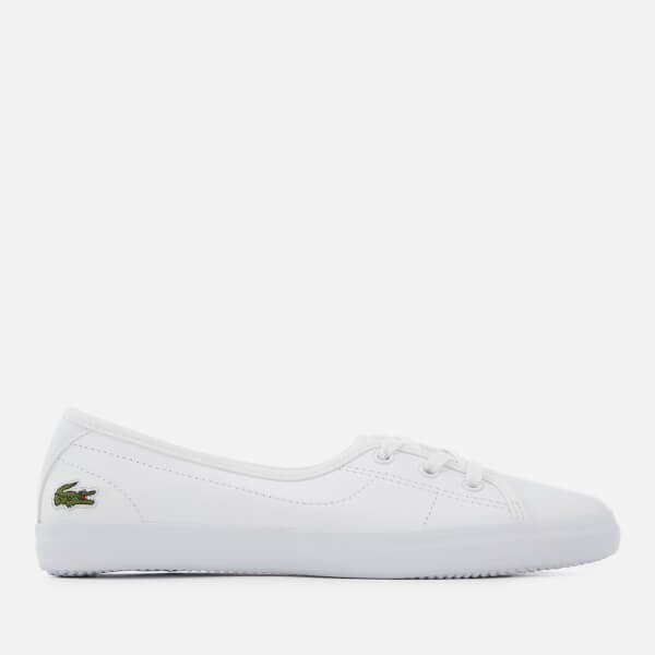 c253250122e8a Lacoste Women s Ziane Chunky BL Leather 3-Eye Pumps - White White  Image