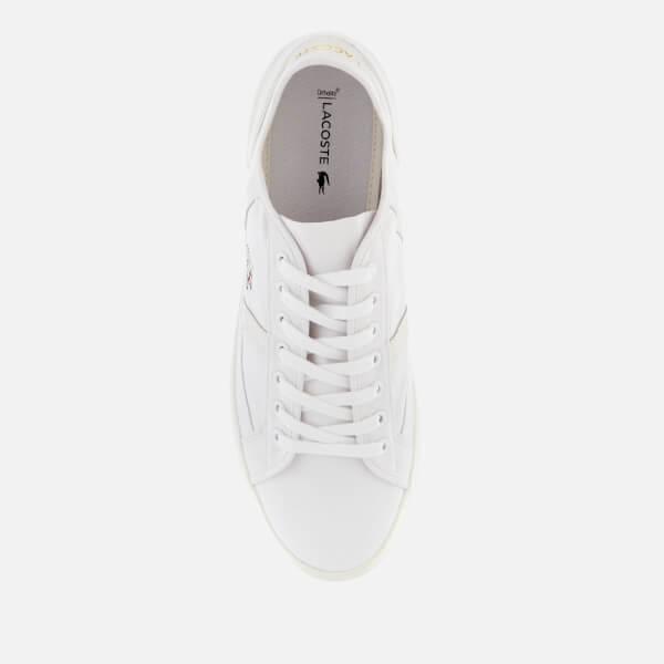 37d2e9259029 Lacoste Men s Sideline 119 1 Canvas Trainers - White Off White  Image 3