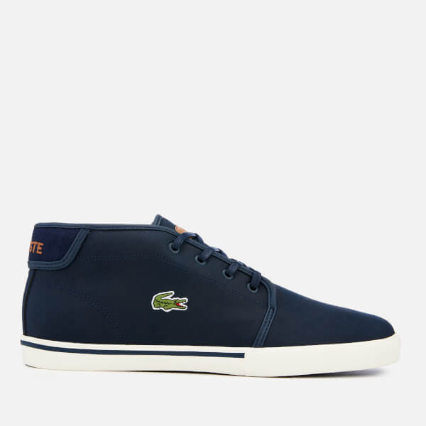 Lacoste Men's Ampthill 119 1 Leather Chukka Trainers - Navy/Light Brown