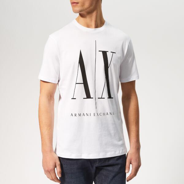 Armani Exchange Men s AX Logo T-Shirt - White Black Clothing ... 6a98121f53
