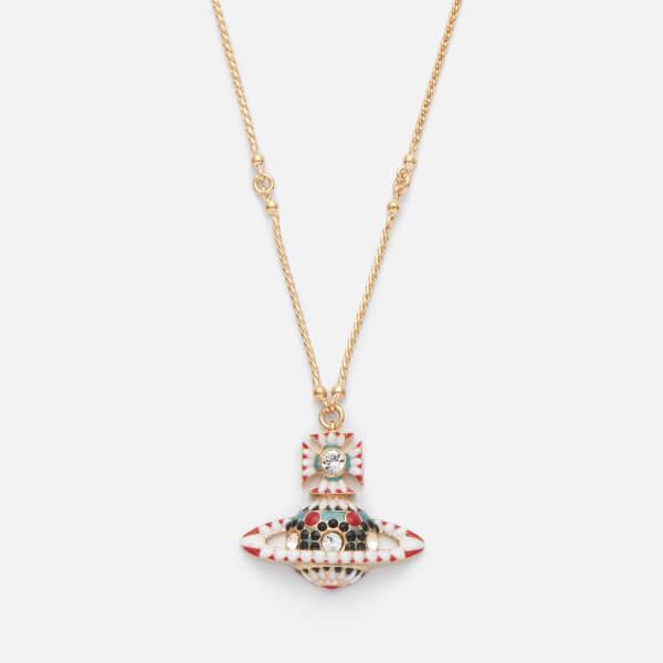 Vivienne Westwood Women's Gabriella Bas Relief Pendant - Crystal/Gold