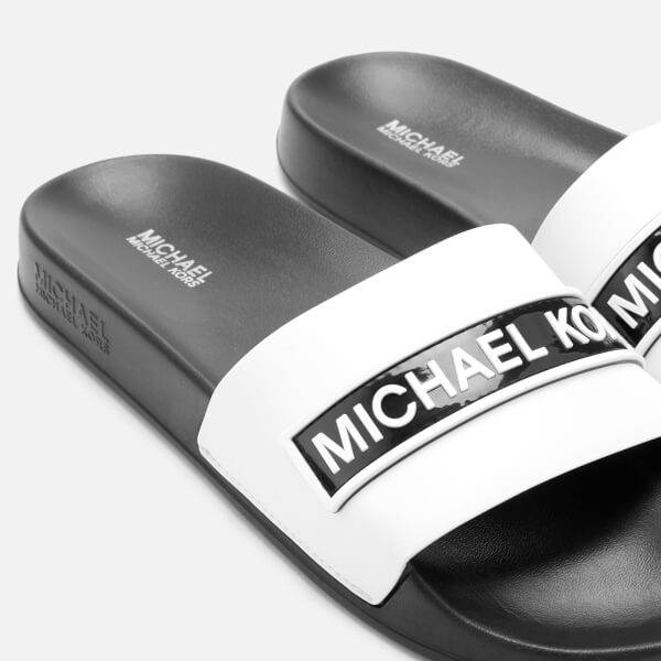 5ff640db365d MICHAEL MICHAEL KORS Women s Demi Slide Sandals - Optic White Black  Image 3