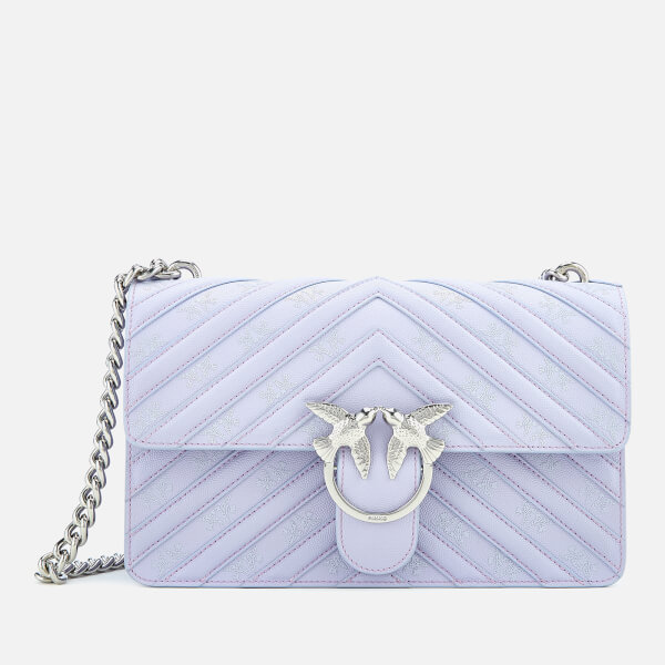Pinko Women's Love Stripes Shoulder Bag - Lavender