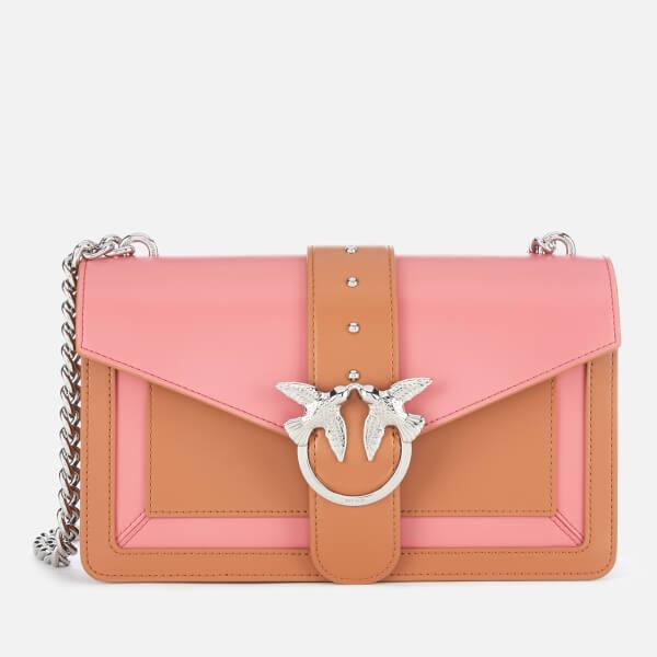 Pinko Women's Love Evolution Shoulder Bag - Tan/Pink