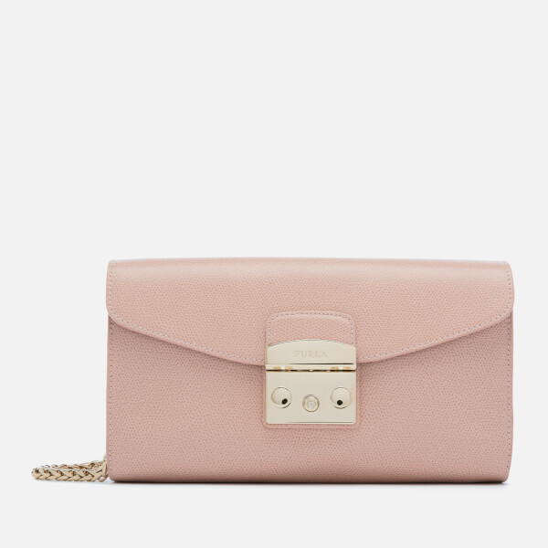 Furla Women's Metropolis Small Pochette with Chain - Moonstone