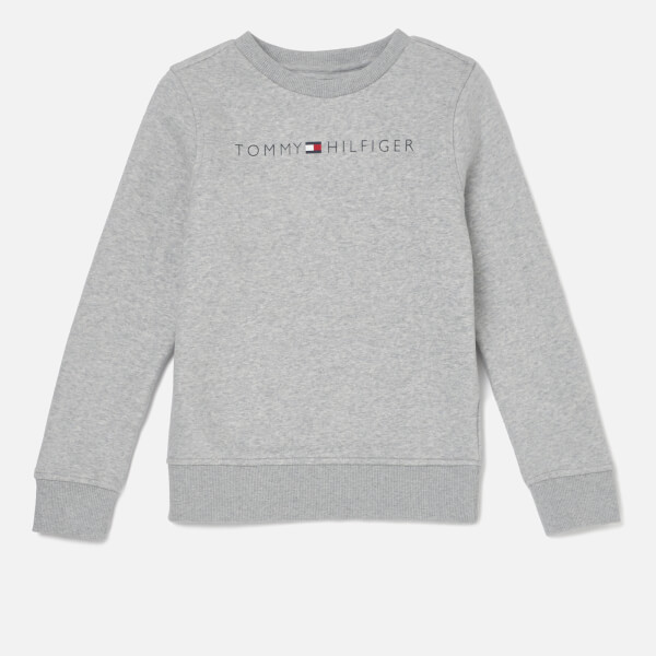 Tommy Hilfiger Boys' Essential Tommy Logo Sweatshirt - Grey Heather