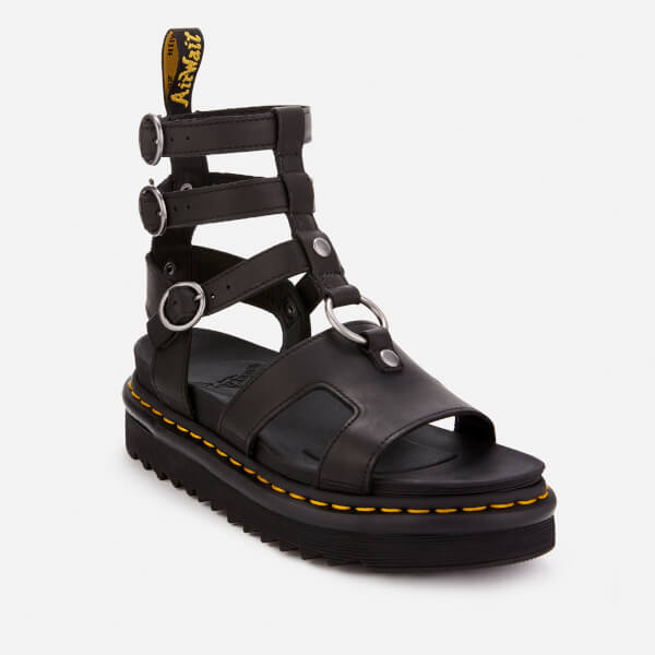 7a9983f22cd Dr. Martens Women s Adaira Leather Gladiator Sandals - Black  Image 2
