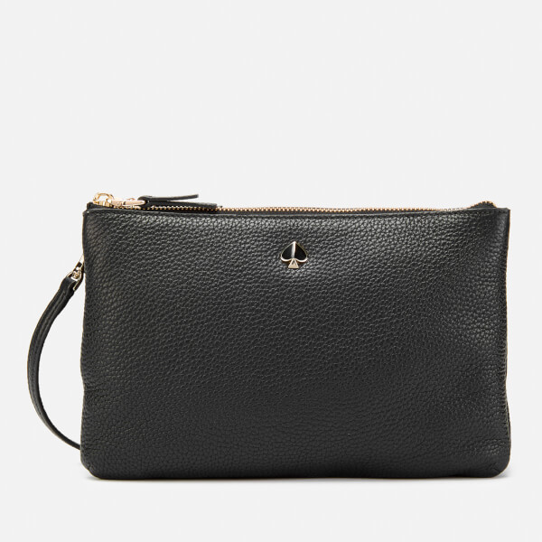 566619d5f87a Kate Spade New York Women s Polly Medium Double Gusset Cross Body Bag -  Black  Image