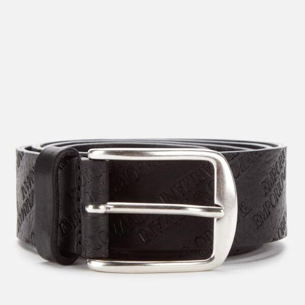 Emporio Armani Men's Smart Leather Belt - Nero