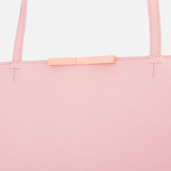 5e836911f2 Ted Baker Women's Jackki Faceted Bow Mini Bark Shopper Bag - Light Pink:  Image 6