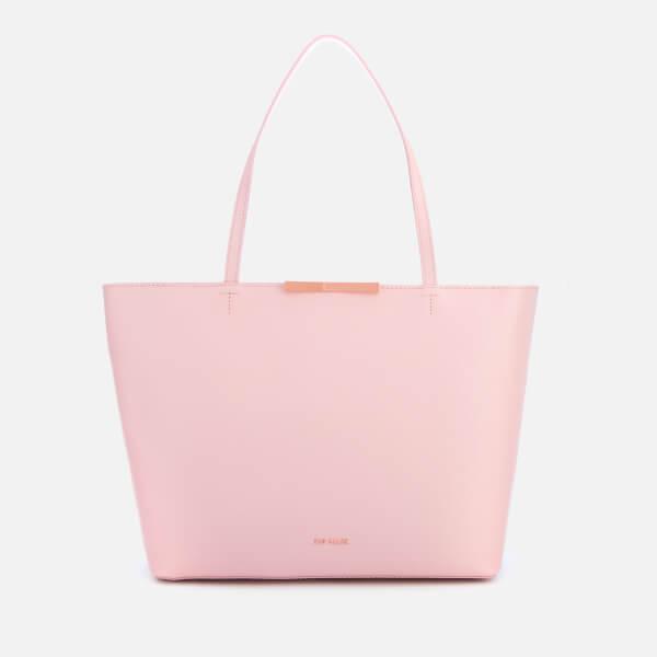 4313d54fbed0 Ted Baker Women s Jackki Faceted Bow Mini Bark Shopper Bag - Light Pink   Image 1