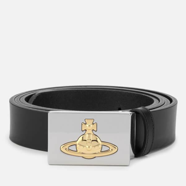 Vivienne Westwood Men's Square Buckle Belt - Black