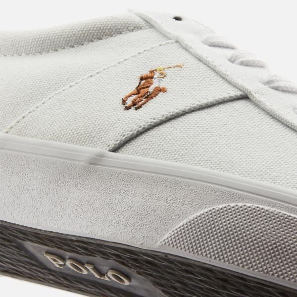 f158075fa6e Polo Ralph Lauren Men s Sayer Ne Vulcanised Canvas Trainers - White  Image 4
