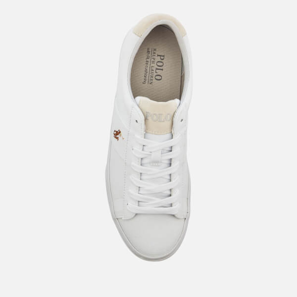 6a52bf37538 Polo Ralph Lauren Men s Sayer Ne Vulcanised Canvas Trainers - White  Image 3