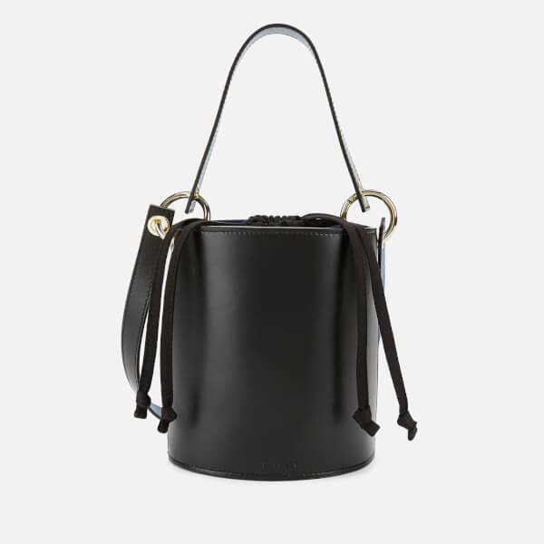 Whistles Women's Matilda Bucket Bag with Top Handle - Black