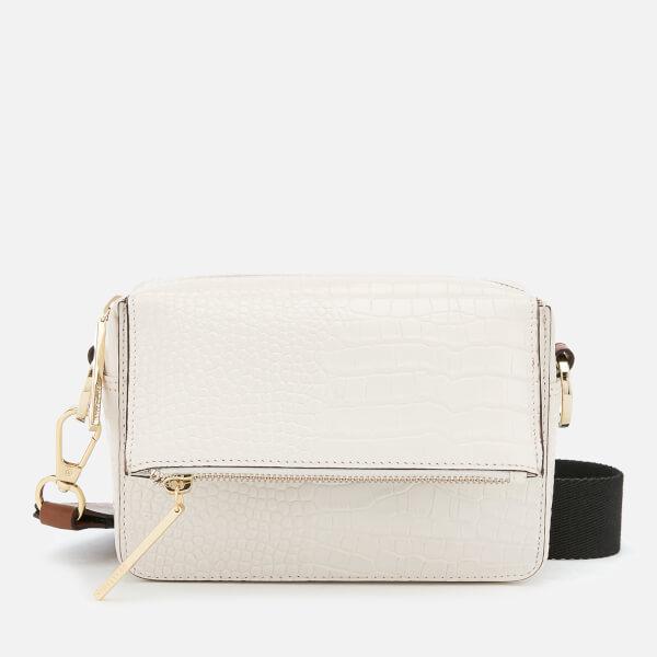 Whistles Women's Millie White Croc Bag - White