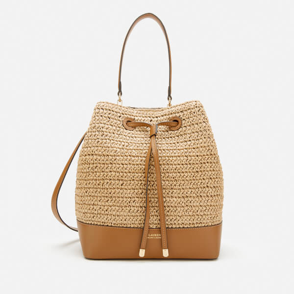 Lauren Ralph Lauren Women's Crochet Straw Debby Drawstring Bag - Natural