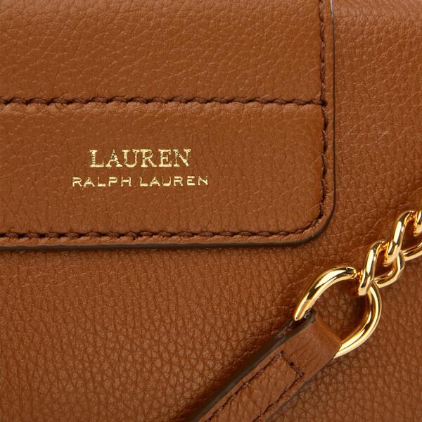 bf97db8e304a Lauren Ralph Lauren Women s Soft Pebble Leather Clutch Bag - Brown  Image 4