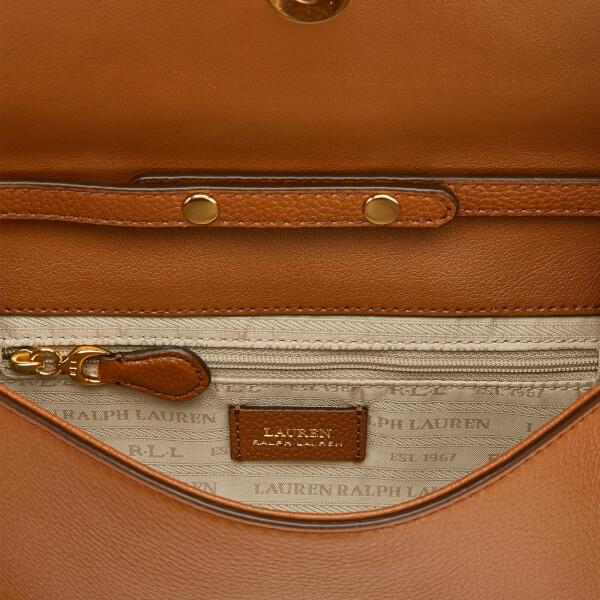 02a23dcf200f Lauren Ralph Lauren Women s Soft Pebble Leather Clutch Bag - Brown  Image 5