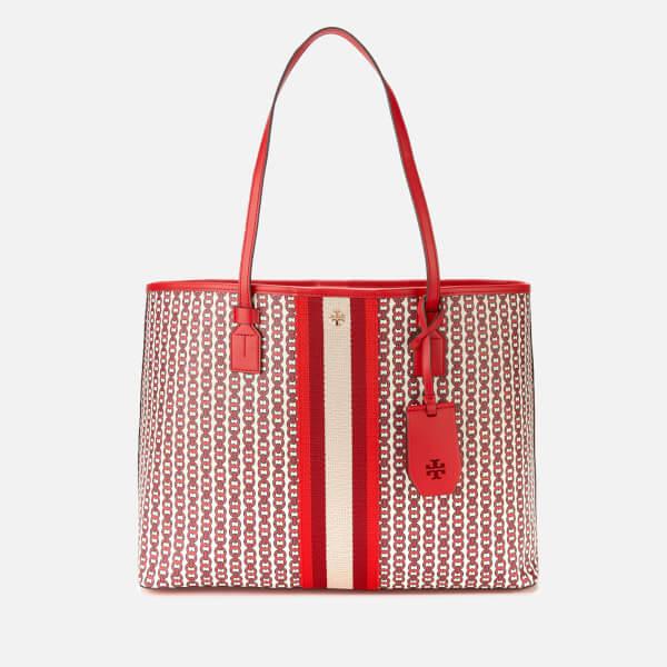 Tory Burch Women's Gemini Link Canvas Tote Bag - Liberty Red