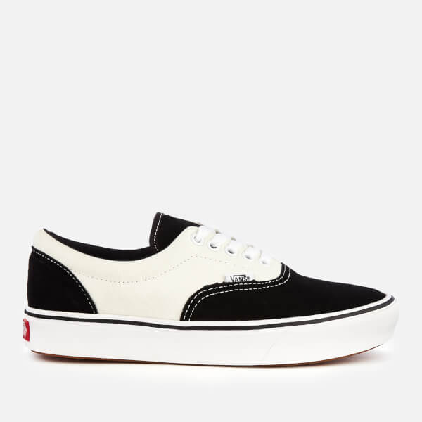 b8f6f248c7c6d7 Vans ComfyCush Suede Canvas Era Trainers - Black Marshmallow  Image 1