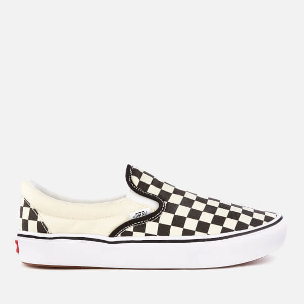 d13fd6a3c3 Vans ComfyCush Classic Slip-On Trainers - Checkerboard True White  Image 1
