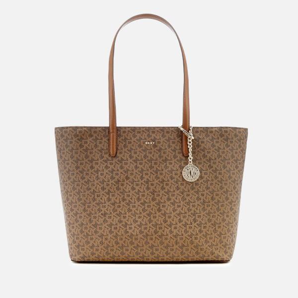 DKNY Women's Bryant Top Zip Carryall Tote Bag - Mocha/Vicuna