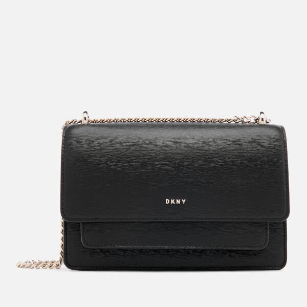 69994a4657 DKNY Women s Bryant Small Chain Cross Body Bag - Black Gold  Image 1