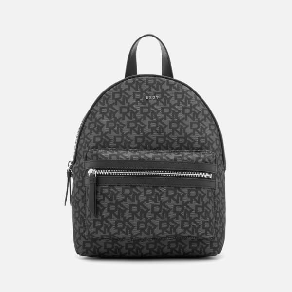 DKNY Women's Casey Medium Backpack - Black Logo