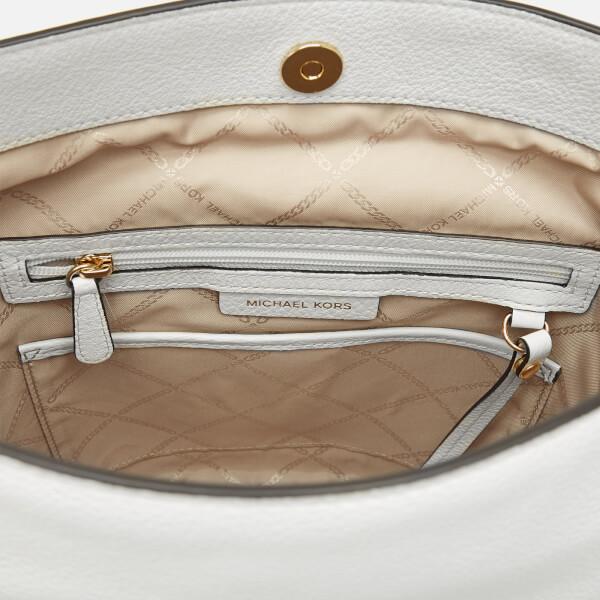 af40534de713 MICHAEL MICHAEL KORS Women s Brooke Medium Bucket Messenger Bag - Optic  White  Image 5