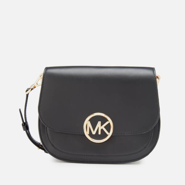 6b94713f177e MICHAEL MICHAEL KORS Women's Lillie Medium Saddle Messenger Bag - Black:  Image 1