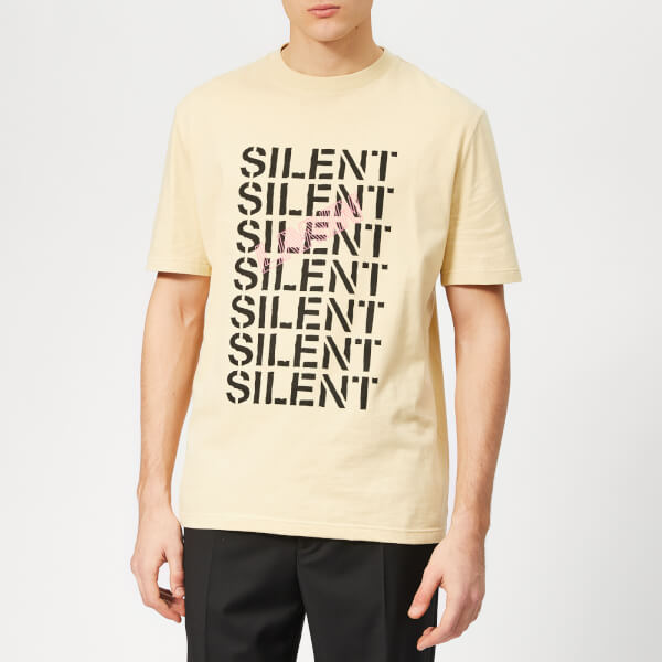 Lanvin Men's Multi Silent T-Shirt - Light Beige