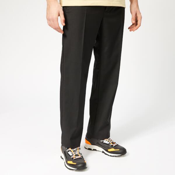 Lanvin Men's Fitted Wool Trousers - Black