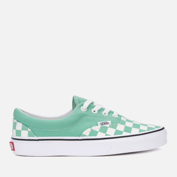 5a8523249c0c Vans Women s Checkerboard Era Trainers - Neptune Green True White  Image 1