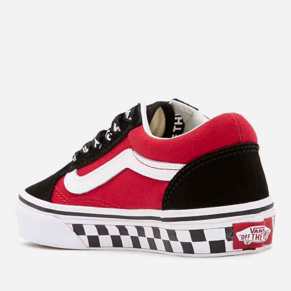 Vans Kids  Logo Pop Old Skool Trainers - Black True White Junior ... 6837b1182
