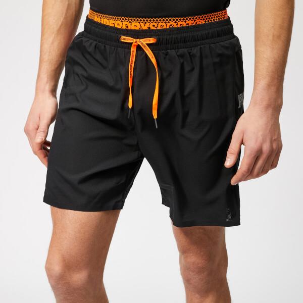 Superdry Sport Men s Active Double Layer Shorts - Black Mens ... 42befae57646
