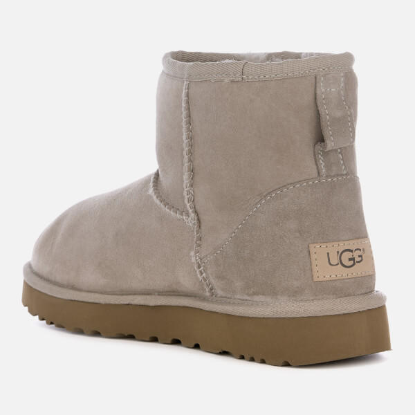 Ugg Womens Classic Mini Ii Sheepskin Boots Oyster Free Uk