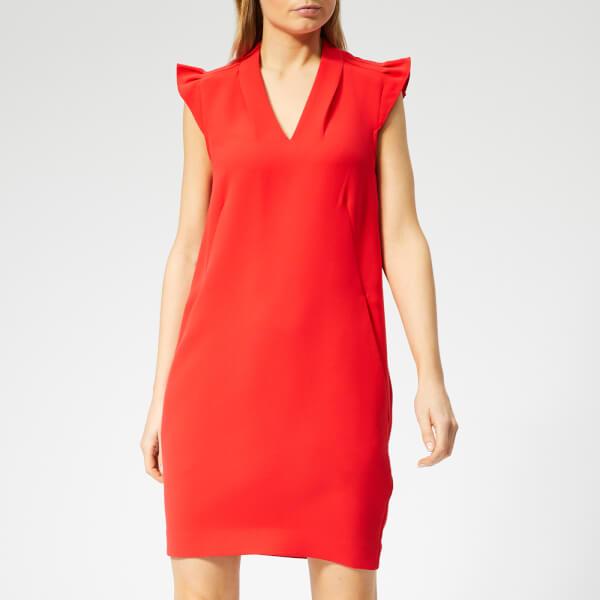 Whistles Women's Safia Crepe Dress - Red