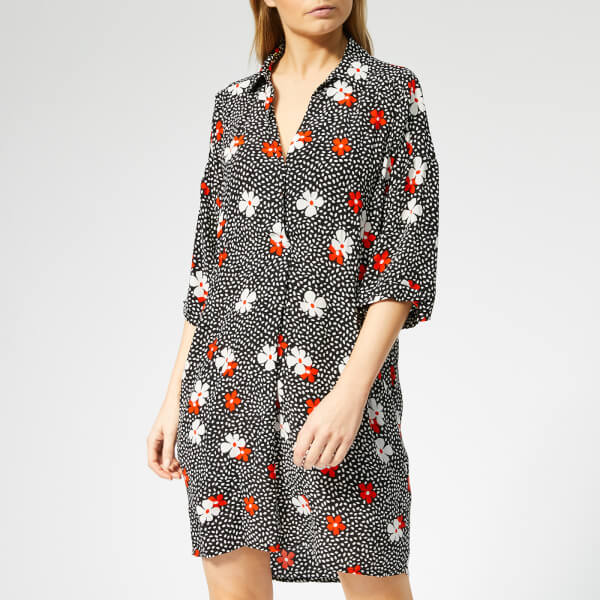 Whistles Women's Lola Confetti Floral Print Dress - Black/Multi
