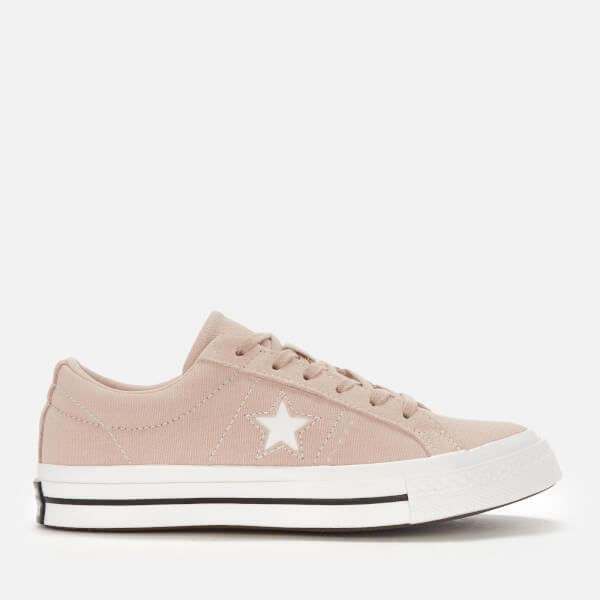 913e7c468a26 Converse Women s One Star Ox Trainers - Particle Beige White Black  Image 1