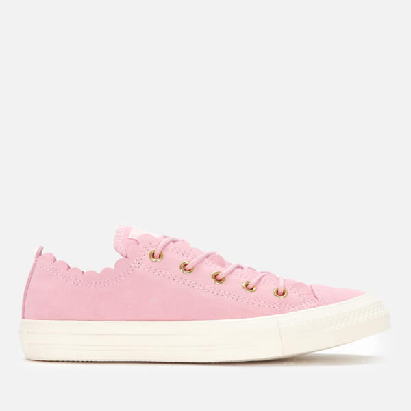 12daffe1a82cae Converse Women s Chuck Taylor All Star Scalloped Edge Ox Trainers - Pink  Foam Gold