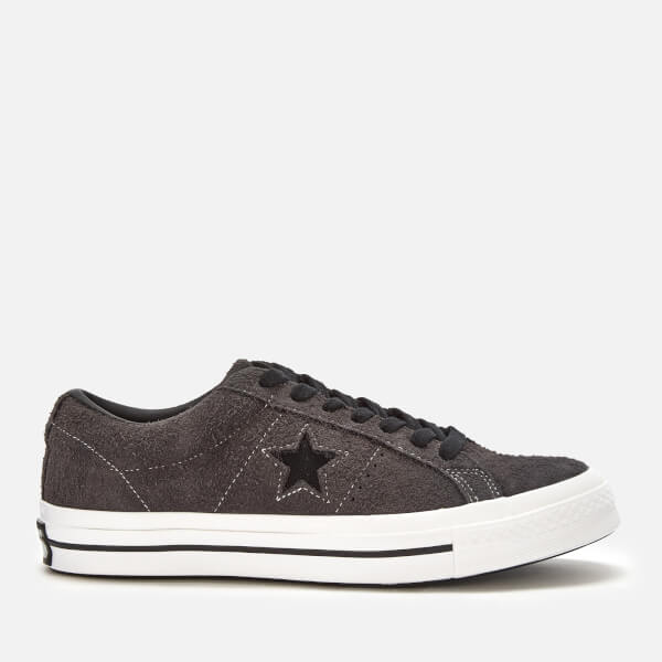 Converse Men's One Star Ox Trainers - Almost Black/White