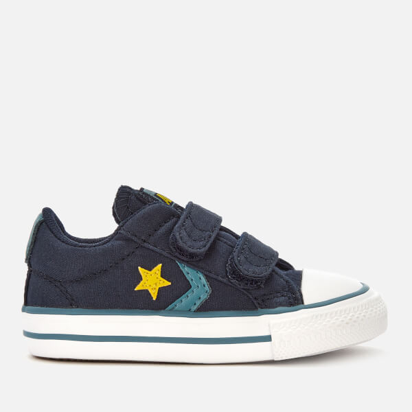 Converse Toddlers' Star Player 2 Velcro Ox Trainers - Obsidian/Celestial Teal