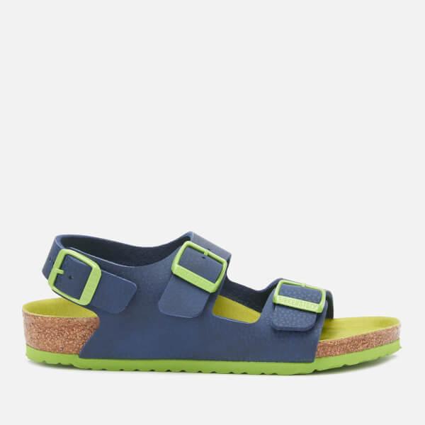 Birkenstock Kids' Milano Double Strap Sandals - Desert Soil Blue