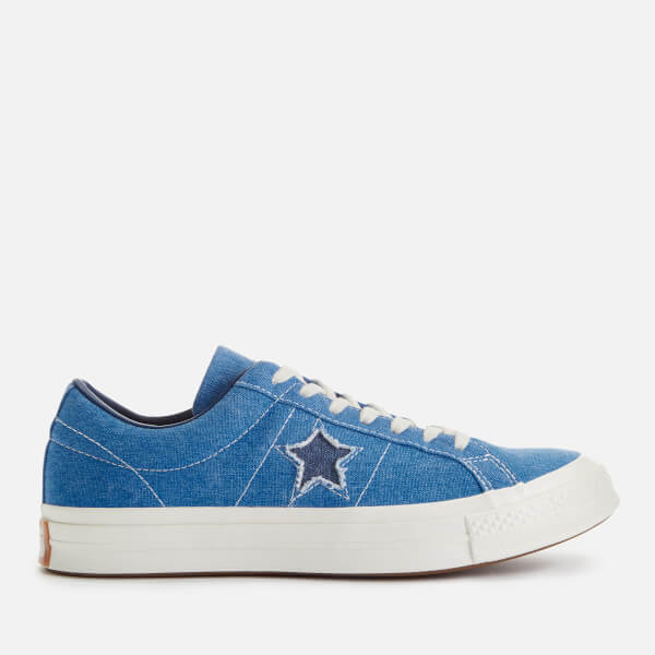 Converse Men's One Star Ox Trainers - Totally Blue/Navy/Egret