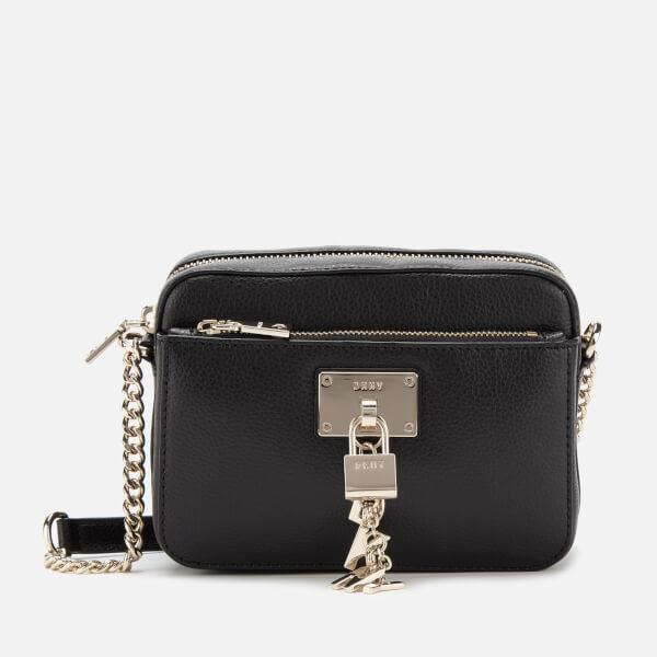 DKNY Women's Elissa TZ Cross Body Bag - Black/Gold